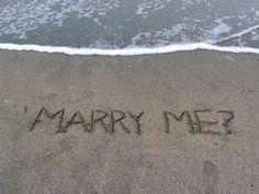 An adorable beach proposal #engagement #proposal #wedding