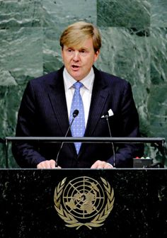 koninklijkhuis:  70th General Assembly of the United Nations, New York City, September 28, 2015-King Willem-Alexander spoke during the assembly