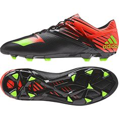 Adidas Messi 15.1 Firm Ground Football Boots - Black - Available at Kitbag.com.