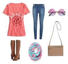 """""""Cute Casual"""" by kassiebartz ❤ liked on Polyvore featuring Cheap Monday, Frye, Lilly Pulitzer and American Eagle Outfitters"""