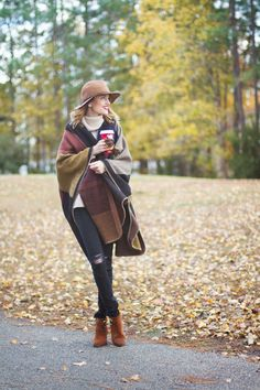 Cape blanket - perfect fall cover up