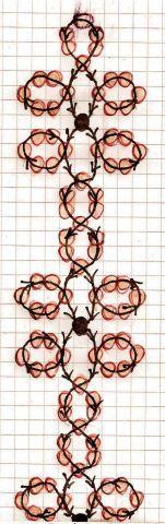 Free easy pattern schema for bracelet Golden Line | Beads Magic