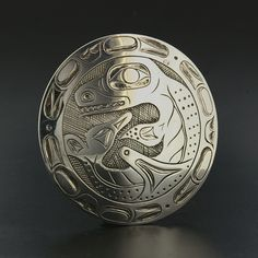 Black And Silver Earrings Code: 8332031377 Native Art, Native American Art, Bill Reid, Haida Gwaii, Viking Culture, Aboriginal Culture, 3d Cnc, Haida Art, Art Premier