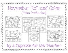 Here's a set of November themed roll and cover boards.