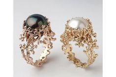 CORAL Gold Pearl Ring, Gold Pearl Engagement Ring, Organic Gold Ring, Large Pearl Ring, Freshwater Pearl Ring – Welcome Coral Ring, Coral And Gold, Black Gold, Gold Jewelry, Fine Jewelry, Unique Jewelry, Bridal Jewelry, Jewellery Box, Indian Jewelry