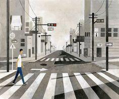 The Crosswalk   by Yuji Takahashi