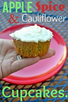 Add Cauliflower Puree to apple spice cupcakes.  These flavors go really well tougher and your kiddos will never know!