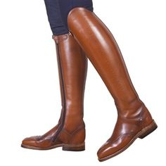 Konigs Excelsior Boots, brown with comfortable zipper.