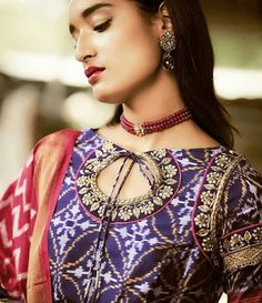 Latest Saree Blouse Designs To Try. Ethnic and cultural wear such as sarees are a trademark of the subcontinent women. sarees are a gift to the women of the subcontinent from their rich culture. New Saree Blouse Designs, Latest Saree Blouse, Kurta Designs, Blouse Styles, Indian Attire, Indian Wear, Indian Outfits, Churidar, Anarkali