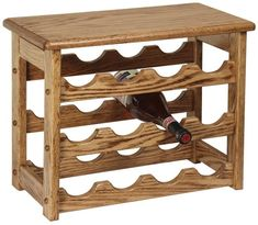 Amish Hardwood Medium Wine Rack with Top Keep the corks wet with wine bottles stored on their sides. Handcrafted solid wood wine rack made in Amish country. Solid Wood, Solid Wood Furniture, Wooden Diy, Cooler Stand, Amish Furniture, Bars For Home, Hardwood, Wood Wine Racks, Bottle Store