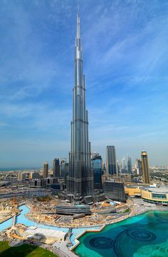 Burj Khalifa in Dubai- tallest building in the world.