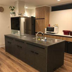 キッチン/アレスタ/リクシルキッチン/リクシル/リシェルSI/アイランドキッチンのインテリア実例 - 2018-03-24 23:06:23 | RoomClip (ルームクリップ) How To Make Breadcrumbs, Interior Decorating, Interior Design, Black Kitchens, Kitchen Interior, Kitchen Gadgets, My Room, Living Room Designs, Kitchen Island