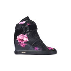 Baldinini Trend Collection: Sneakers in black floral nappa leather #Baldinini #Sneakers #Floral
