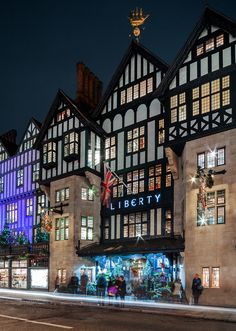 Liberty is a department store on Regent Street, West End shopping district of Central London