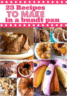 28 recipes to make in a bundt pan this spring. Just Desserts, Delicious Desserts, Dessert Recipes, Cake Recipes, Yummy Food, Banana Bundt Cake, Bundt Cakes, Moist Cakes, Breakfast Cake