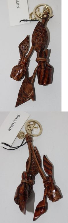Handbag Accessories 163570: Brahmin Rose Pair Key Ring Purse Accent In Toasted Almond Melbourne Leather -> BUY IT NOW ONLY: $35.7 on eBay!