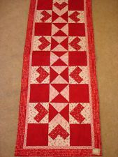 INSTRUCTIONS ONLY~HEARTS TABLE RUNNER QUILT PATTERN~FEBRUARY ~VALENTINE~year 2