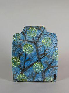 Timely-Spring ceramic by Ute Grossman (venciceclayartists)