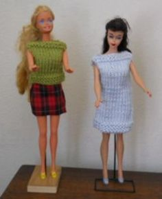 #Free Patterns; Knit; Barbie Doll Shell and Dress ~~