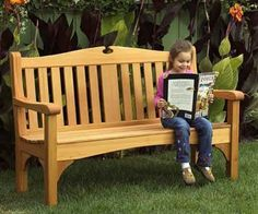 """Garden Bench Plan What a beautiful way to create seating for your yard or garden. 50"""""""" long x 40"""""""" tall"""