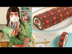 How to Make Heart Cake Roll-Chocolate Cake Roll filled with Whipped Ganache Recipe Whipped Ganache, Ganache Recipe, Japanese Roll Cake, Haute Cakes, Swiss Cake, Chocolate Roll Cake, Cake Roll Recipes, Patterned Cake, Cute Desserts
