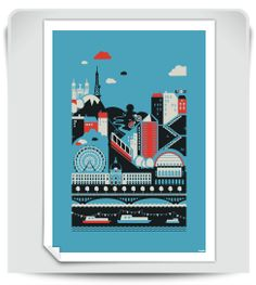 Voici un tout nouveau visuel Laspid édité en affiche qui vous propose une concentré de la ville de Lyon sous un angle très graphique. Tirage numérique 70 x 50 cm de haute qualité sur papier couché mat 180g/m².