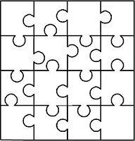 puzzle 12 pieces  svg  dxf  eps  ai  png  vector digital