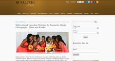 Kwaku and Diane's wedding featured on @Munaluchi LLC Bride's real wedding section!