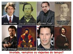 Is time travel possible? Fun to think about but not probable since none of the problems that have vexed mankind throughout history have been solved. Surely some enterprising time traveler would have cured the common cold? Nicolas Cage, John Travolta, Keanu Reeves, Paranormal, Monet, Time Travel Proof, Interesting History, Past Life, Coincidences