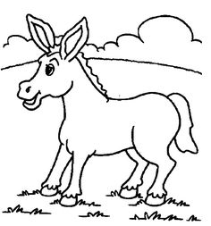 Free Donkey Coloring Page
