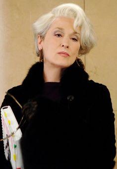 "Meryl Streep, en su rol de Miranda Priestly en ""The devil wears Prada"""