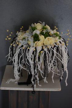 Démonstrations florales des formateurs pour les apprentis(es) .Noël 2014.CFA Blagnac (France).