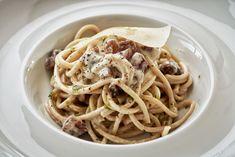 Italian Carbonara with bucatini. Olympic Restaurant, Executive Chef, Athens, Olympics, Ethnic Recipes, Food, Gourmet, Kitchens, Essen