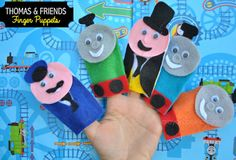 Thomas finger puppets are handfuls of fun! Colorful felt puppets make a great DIY project. http://www.thomastrainrides.com/fun-and-games.html#07may15