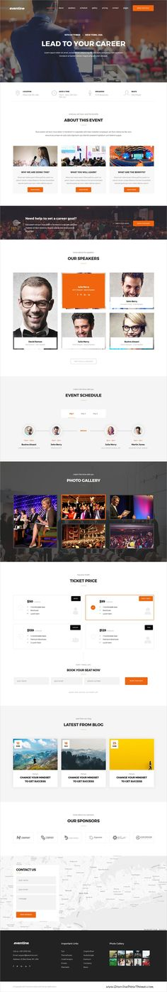 Eventine is clean and modern design 4in1 responsive #HTML5 template for the #Conferences, Meetings, Exhibitions, Congresses, Events, Event Management website download now..