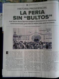 Sobre la Exposición Centroamericana bajo la presidencia de Reina Barrios