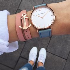Watch Sailor Line White Sand Rose Gold Leather Watchstrap Niagara - PAUL HEWITT