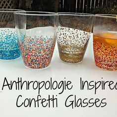 Anthropologie Inspired Confetti Glasses