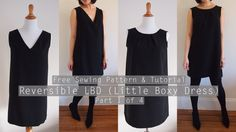 A step-by-step tutorial on how to make your own shift dress, with a reversible neckline. It can be worn with a pleated crewneck, or a v-neck! Part 1 of 4 - M...