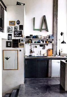 LA-keuken; super vloer.