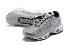 1cb39f804f High-end Product Nike Air Max Plus SE Black Silver Red White Men's Running  Shoes