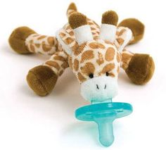 WubbaNub infant pacifiers have become a necessity for all new babies. Wubbanub baby pacifiers are soothie pacifier attached to a plush giraffe Wubbanub Pacifier, Binky, Best Pacifiers, Bag Essentials, Done By Deer, Baby Time, Plush Animals, Stuffed Animals, Baby Registry