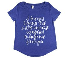 I Love You Because...(Vintage Royal) Adoption tee from Wire and Honey