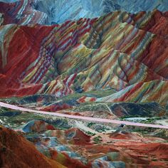 I would love to visit the rainbow mountains in China.  So beautiful!