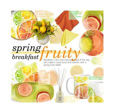 """Spring Fruity Breakfast"" by federica-m ❤ liked on Polyvore featuring Williams-Sonoma, Vietri, Conran and fruitdecor"
