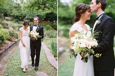 Natural clutch of roses, peonies, lisianthus, and garden roses with mixed greenery accents - photographed by Landon Jacob Photography