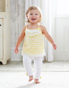 Crochet Tunic and Legging Set from Mud Pie. Very fresh springy feel for Ms. Piper. I think the yellow color would look good on her.