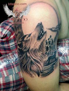 wolf tattoo    www.bttattoo.com www.facebook.com/...