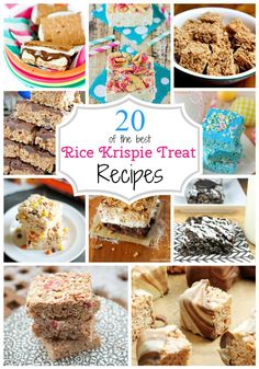 20 of the best Rice Krispie Treat Recipes! What a fun twist on this simple dessert!