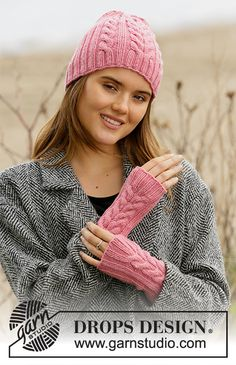 Accessories - Free knitting patterns and crochet patterns by DROPS Design Fingerless Mittens, Knit Mittens, Knitted Poncho, Knitted Gloves, Diy Crochet And Knitting, Knitting Patterns Free, Free Knitting, Crochet Patterns, Knitting Tutorials